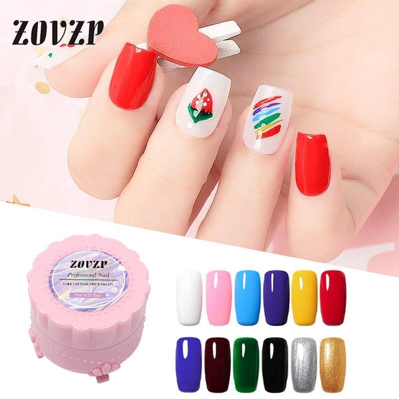 ZOVZP Nail Gel Polish 2020 New Nail Beauty Painting Pull Wire UV Gel Solid Color 12 Colors Nail-gel Set Nail Art Gel Polish