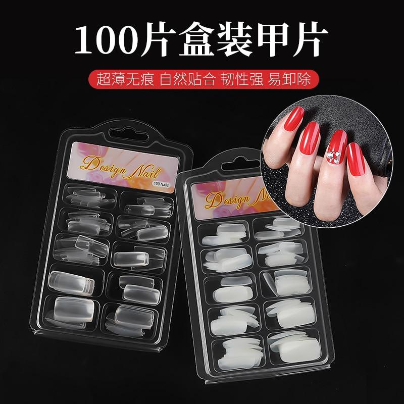 Nail Supplies For Professionals French Style Full Stickers Half Stickers Mixed Size Full Coverage Press On Nails Design H004