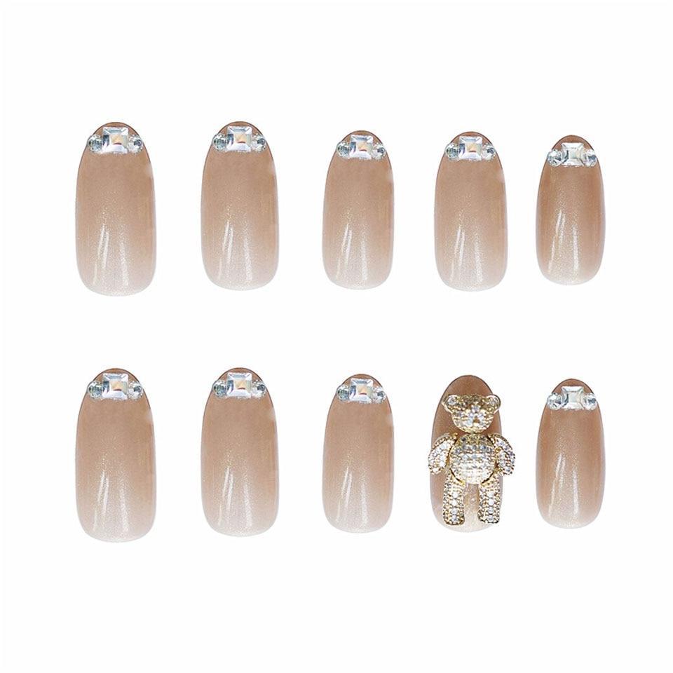 24 high-end fake nails black dazzling diamond fake nails fake nails black super long nails artificial nails