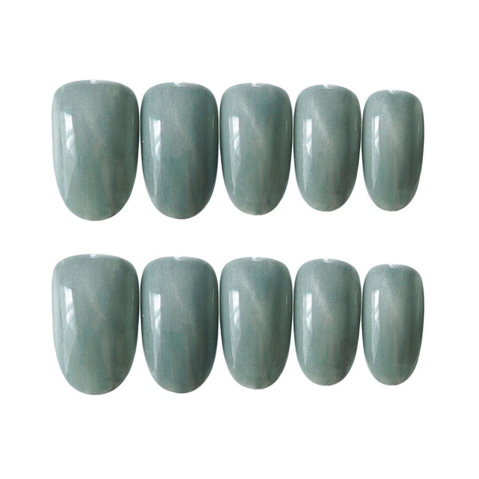 24sheet high-end false nails ice blue cat eye false nails multi-color optional false nails, artificial nails