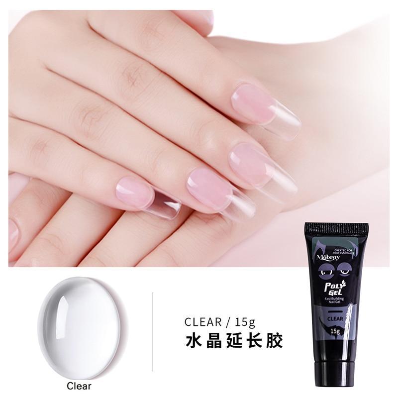 Polygel Nail Acrylic poly gel Pink White Clear Crystal UV LED Builder Gel Tips Enhancement Slip Solution Quick Extension Gel